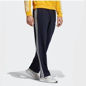 Adidas Wide Leg Track Suit Pants with Stripes